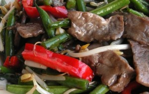 מתכון דיאטה רצועות בקר ופלפל